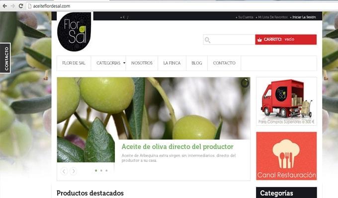 Aceite Flor de Sal estrena página Web
